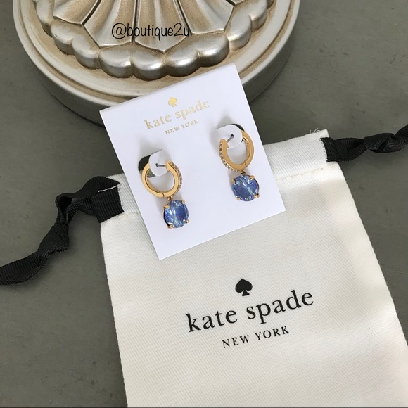 Kate Spade Jewelry Bright Ideas Pave Sapphire Earrings Poshmark